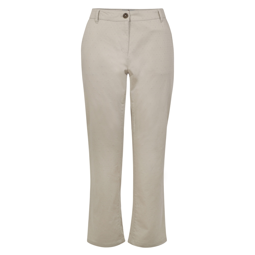 Magee 1866 Beige Spot Sandy Washed Cropped Trousers