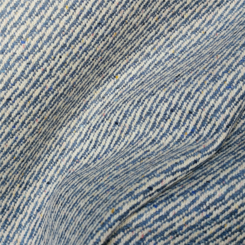 Limited Edition - Blue Interrupted Twill Donegal Tweed 1