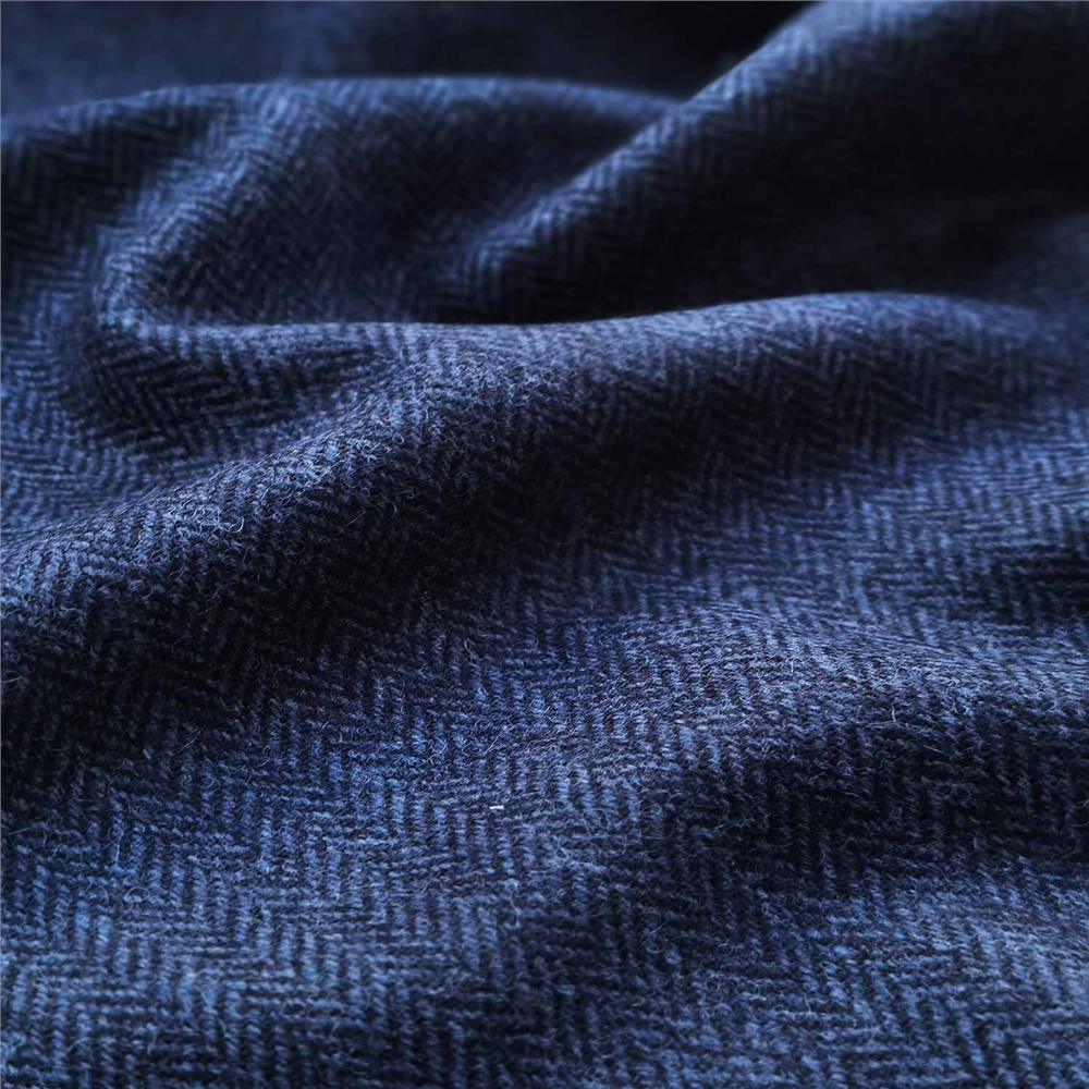Rockall - Navy Herringbone Donegal Tweed 1