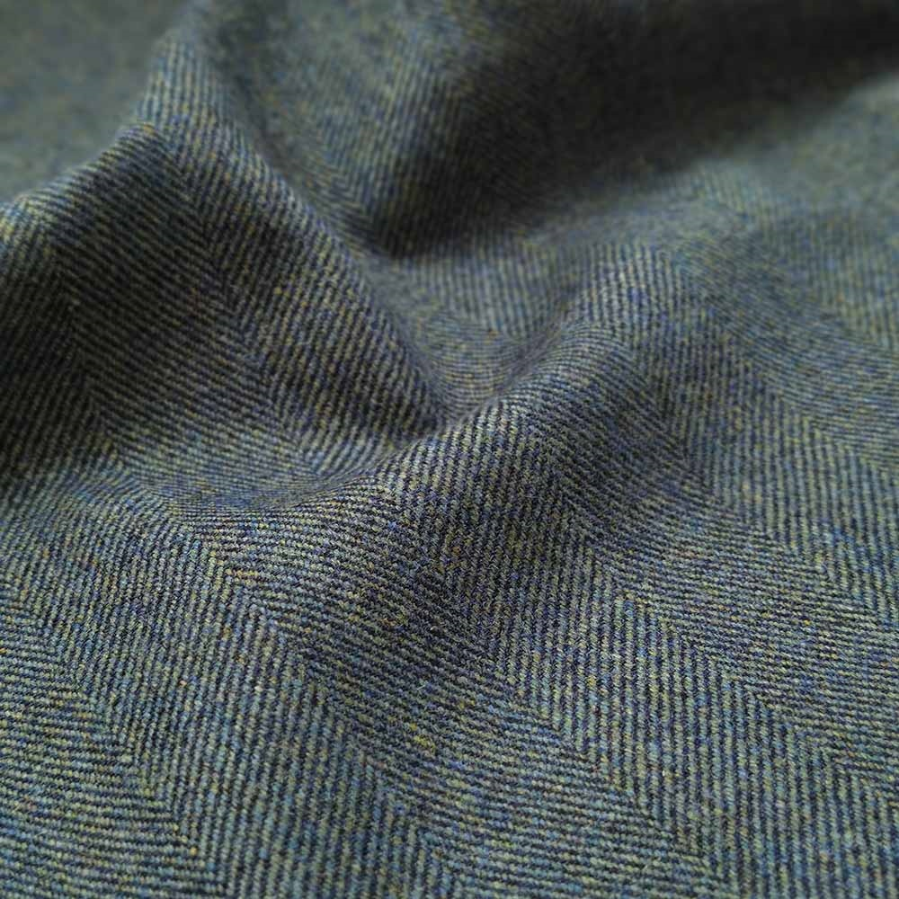 Interiors Limited Edition - Navy and Green Herringbone Donegal Tweed  1