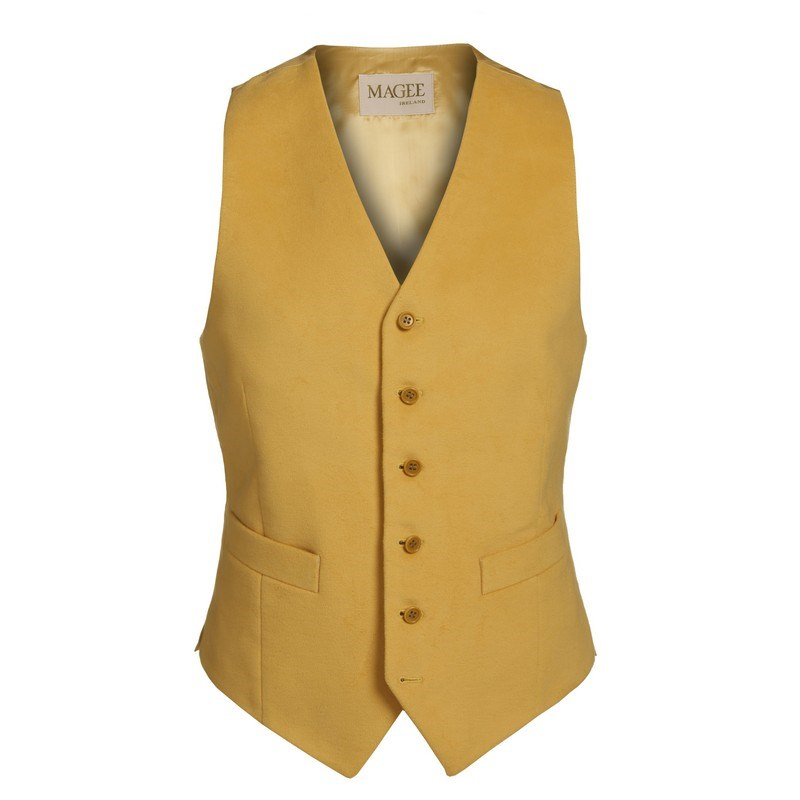 1940s UK Men's Clothing – WW2, Swing Dance, Goodwin Magee 1866 Yellow Moleskin Waistcoat �79.36 AT vintagedancer.com