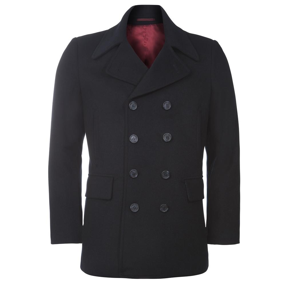 Dark Navy Double Breasted Peacoat Jacket | Seasonal collections ...