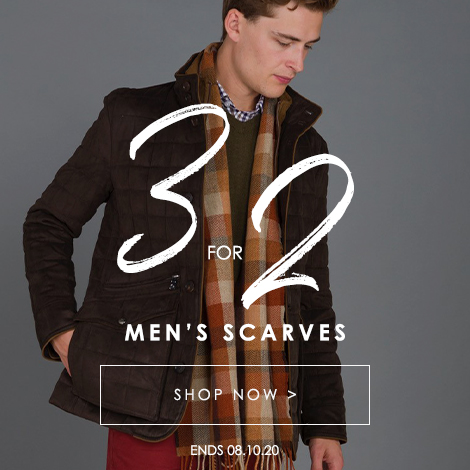 3 for 2 on Men's Scarves