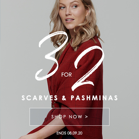3 for 2 on Women's Scarves